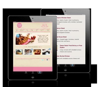 restaurant menu web publishing