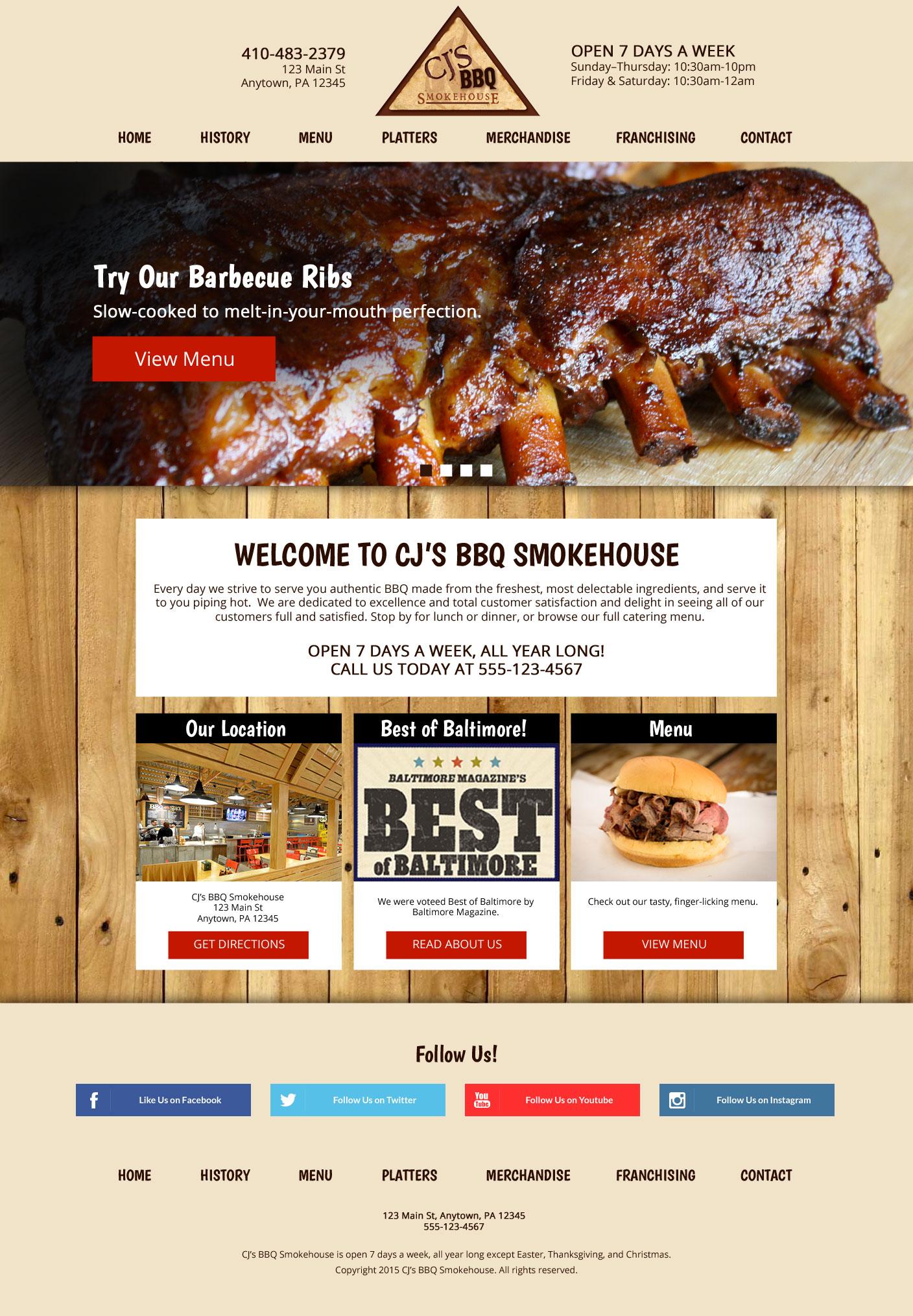 bbq web design
